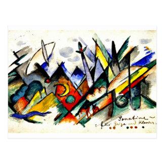 Franz Marc - Sonatine für Violine und Klavier Postkarte