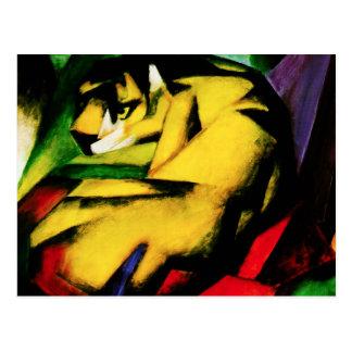 Franz Marc-Tiger-Postkarte