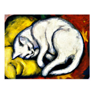 Franz Marc - weiße Katze. Franz Marcmalerei 1912 Postkarte