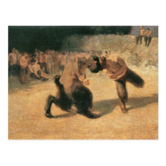 Franz von Stuck - kämpfendes Faune Postkarte