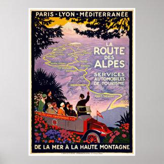 Franzose-Ausflug-Karte - Vintage Reise-Plakate Poster