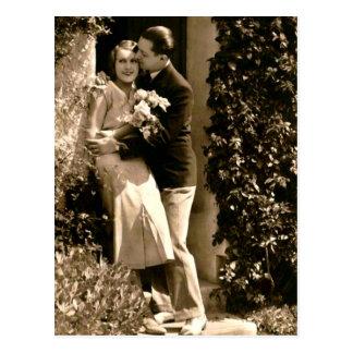 Franzose-Flirt - romantisches Vintages Postkarte