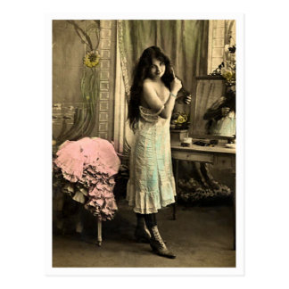 Franzose-Flirt - Vintager Pinup Postkarte