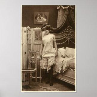 Franzose-Flirt - Vintages Pinup-Mädchen Poster
