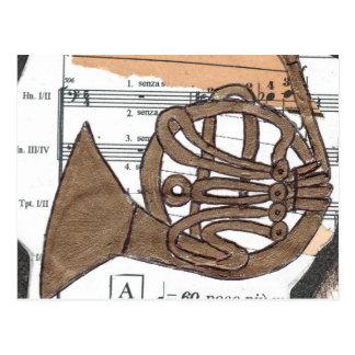 (Franzose-) Hornpostkarte Postkarte