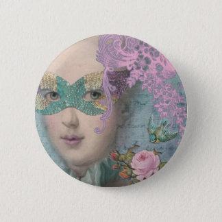 Franzose-Maskerade Runder Button 5,1 Cm