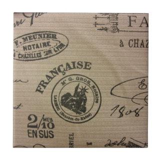 Franzose-Reise-Briefmarken Keramikfliese