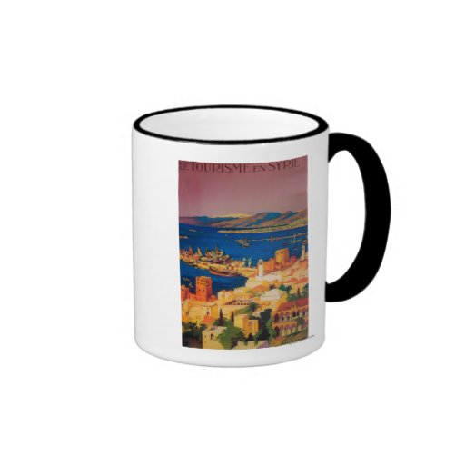 Franzose-Reise-Plakat, bereisend in Syrien Kaffee Haferl