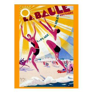 Franzose-Reise-Plakat La Baule Vintages Postkarte