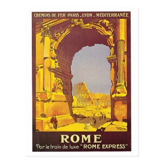 """Franzose-Reise-Plakat """"Roms"""" Vintages Postkarte"""