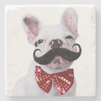 Franzose-Stier-Hundewelpe mit dem Schnurrbart Steinuntersetzer