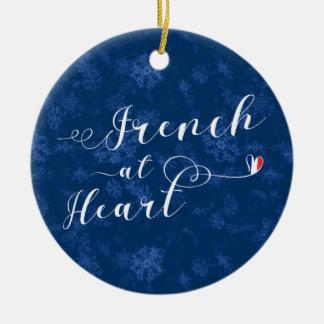 Franzosen am Herzen, Weihnachtsbaum-Verzierung, Keramik Ornament