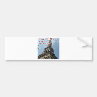 Franzosen Eiffelturm-Paris Frankreich Sommer-2016 Autoaufkleber