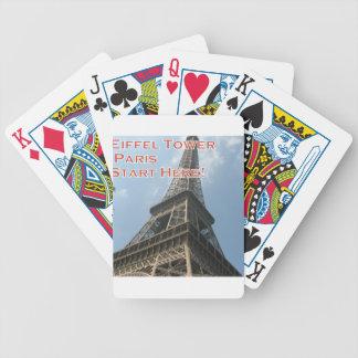 Franzosen Eiffelturm-Paris Frankreich Sommer-2016 Bicycle Spielkarten