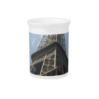 Franzosen Eiffelturm-Paris Frankreich Sommer-2016 Getränke Pitcher