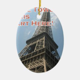 Franzosen Eiffelturm-Paris Frankreich Sommer-2016 Keramik Ornament