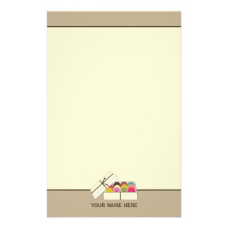 Franzosen Macarons personalisiertes Briefpapier