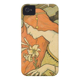 Franzosen Nouveau Pinup-Mädchen auf dem Gebiet der iPhone 4 Cover