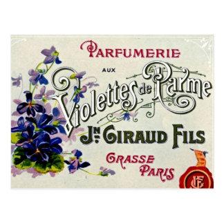 Franzosen Violette Parfüm-Aufkleber Postkarten