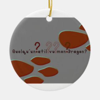 Französisch-Drache Rundes Keramik Ornament