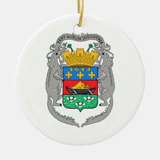 Französisch-Guayana Wappen Rundes Keramik Ornament