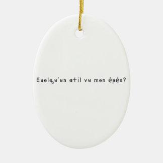 Französisch-Klinge Ovales Keramik Ornament