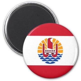 Französisch-Polynesien-Flagge, Drapeau Polynésie Runder Magnet 5,7 Cm