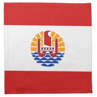Französisch-Polynesien-Flaggen-Serviette Serviette