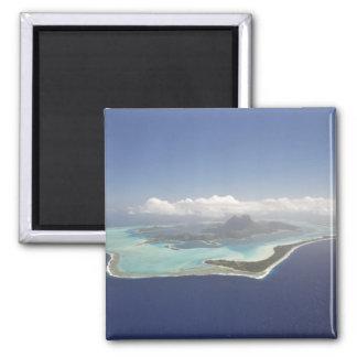 Französisch-Polynesien, Tahiti, Bora Bora. Quadratischer Magnet
