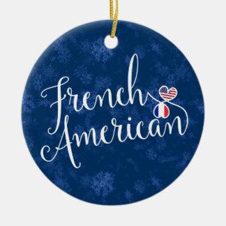 Französische amerikanische rundes keramik ornament
