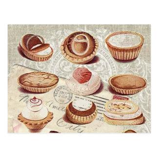 französische Bäckereikuchen-Gebäcknachtische Postkarte