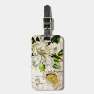 französische botanische schäbige mit Blumeneleganz Gepäckanhänger