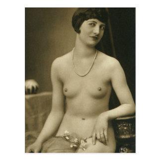 Französische Boudoir-Foto-Postkarten Postkarte