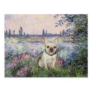 Französische Bulldogge 1 - durch die Seine Postkarte