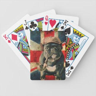Französische Bulldogge 2 Bicycle Spielkarten