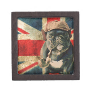 Französische Bulldogge 2 Schmuckkiste