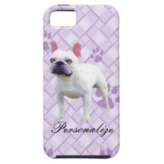Französische Bulldogge auf Lavendel-Webart Hülle Fürs iPhone 5