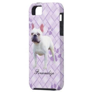 Französische Bulldogge auf Lavendel-Webart iPhone 5 Etui