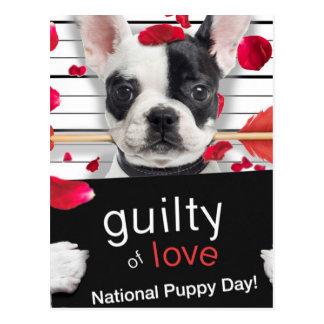 Französische Bulldogge des Valentinstags Postkarte