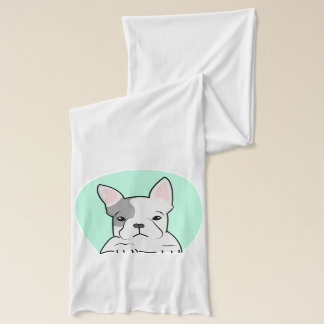 Französische Bulldogge, Digital-Illustration, Hund Schal