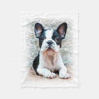 Französische Bulldogge Fleecedecke