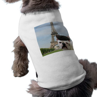 Französische Bulldogge in Paris-Hundeshirt Shirt