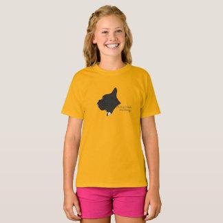 Französische Bulldogge Kopf Silhouette T-Shirt