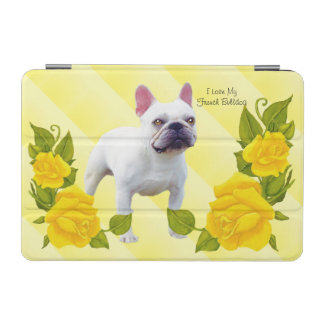 Französische Bulldogge mit gelber Rose iPad Mini Hülle