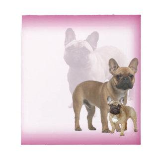 Französische Bulldogge Notizblock