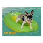 "Französische Bulldogge Postkarte ""To Mum"""