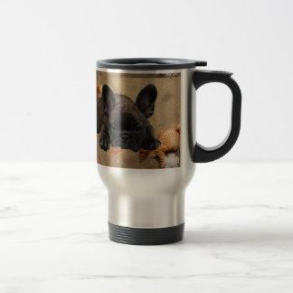 Französische Bulldogge Reise-Becher Edelstahl Thermotasse