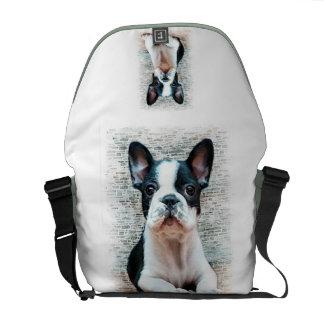 Französische Bulldogge Richshaw Botetasche Kurier Tasche