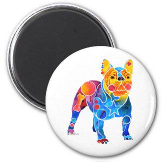Französische Bulldogge Runder Magnet 5,7 Cm