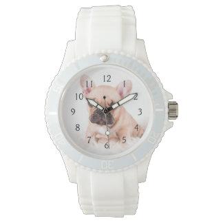 Französische Bulldogge Uhr